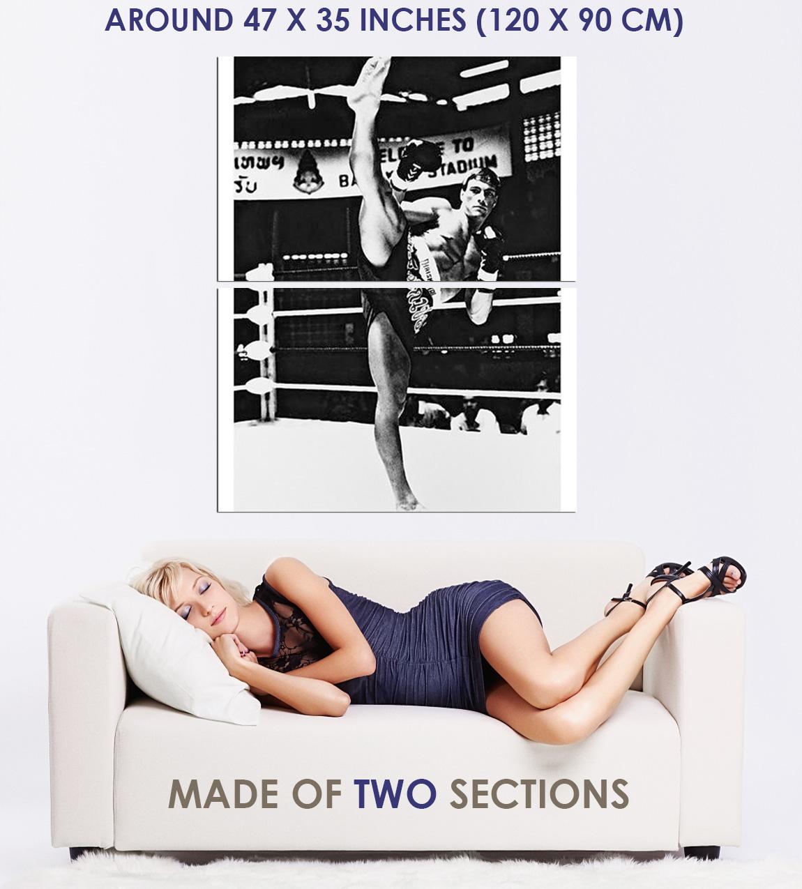 236417 Jean Claude Van Damme In Kickboxer B/&W WALL PRINT POSTER DE