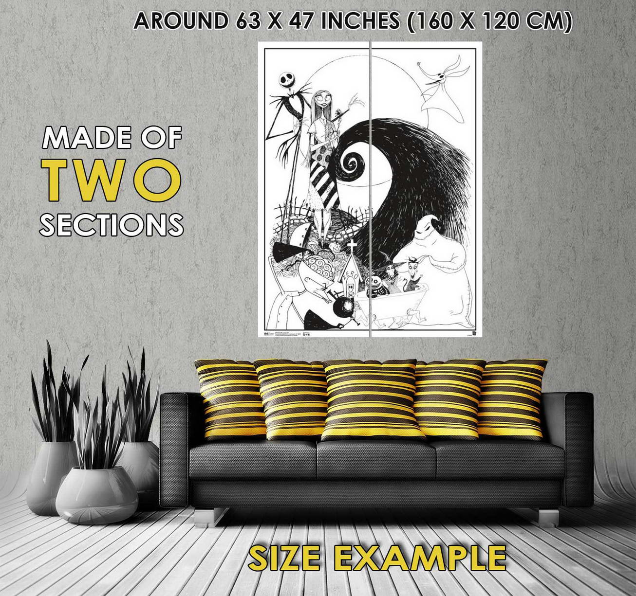 102120 The Nightmare Before Christmas Composite Decor WALL PRINT ...