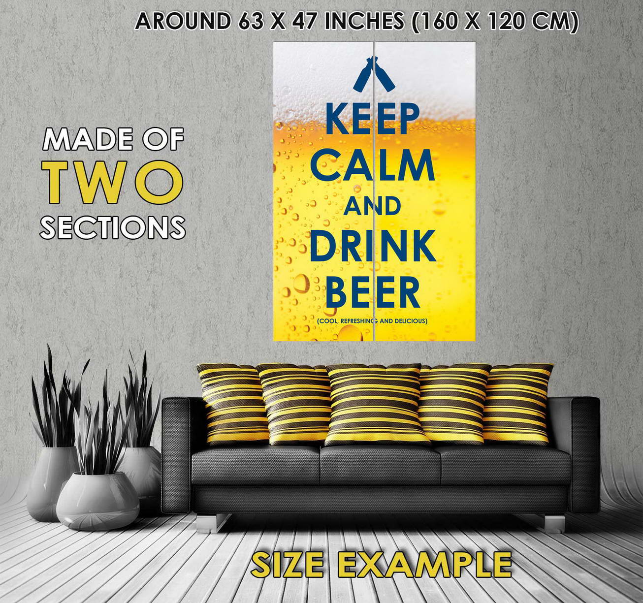 103172 Keep Calm Drink Beer Funny Decor WALL PRINT POSTER AU | eBay