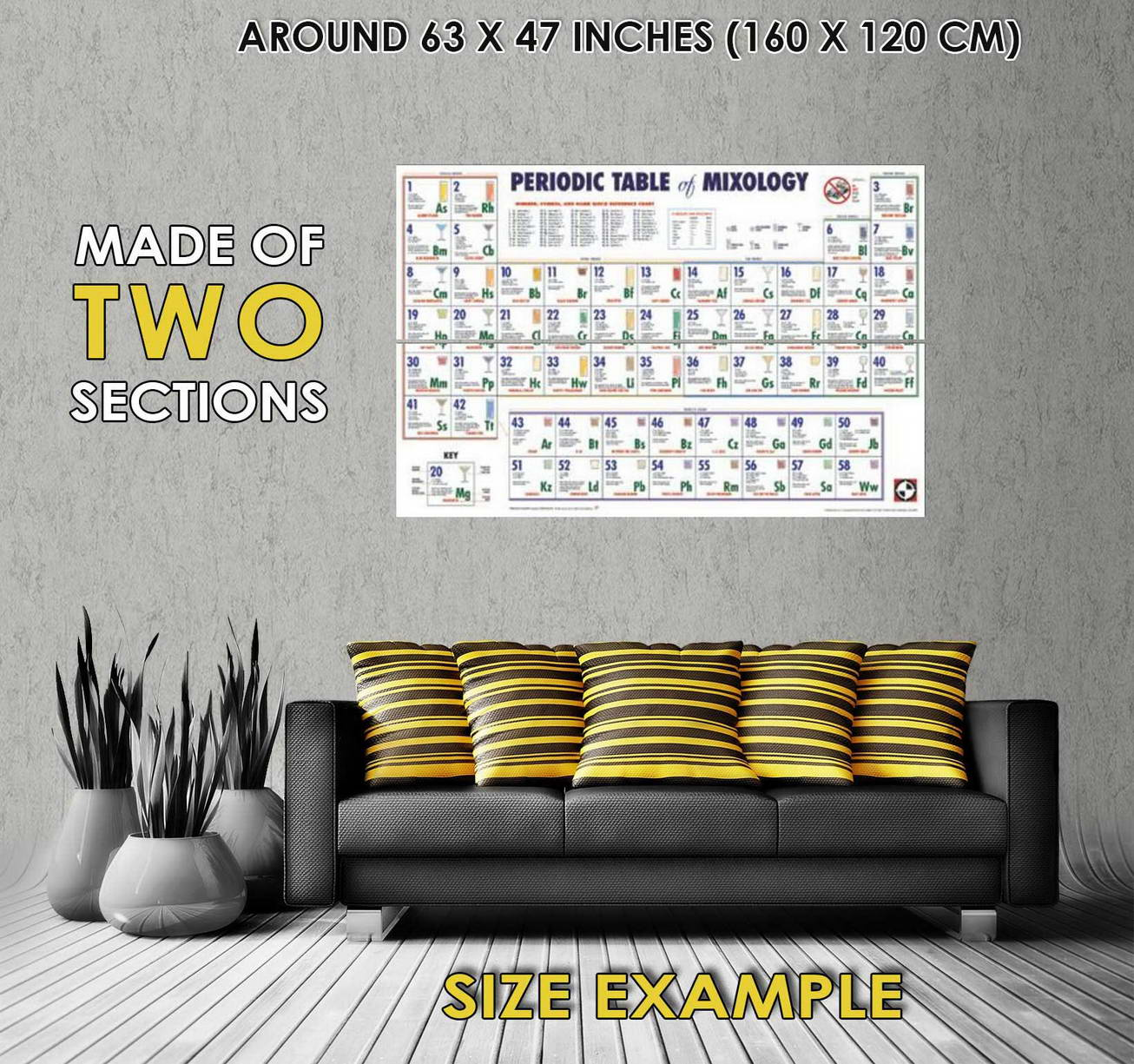 103976 periodic table of mixology chart decor wall print poster au 103976 periodic table of mixology chart decor wall urtaz Images