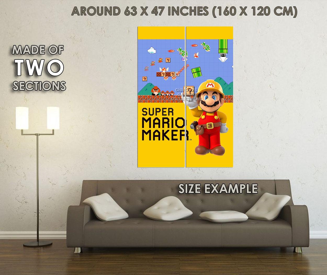 122186 Super Mario Maker Nintendo Decor WALL PRINT POSTER UK   eBay