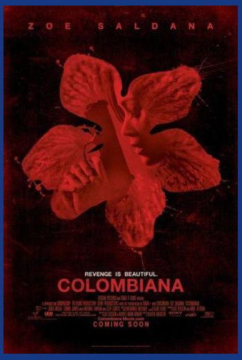 145283-COLOMBIANA-Classic-ZO-SALDANA-Wall-Print-Poster-UK
