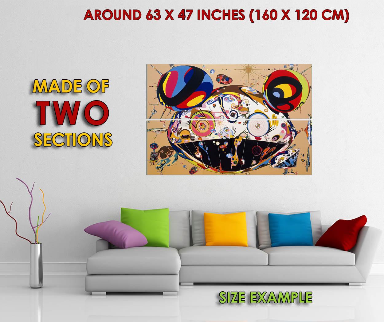 178407 Takashi Murakami Dob Tan Decoração Parede Poster Impressão nos