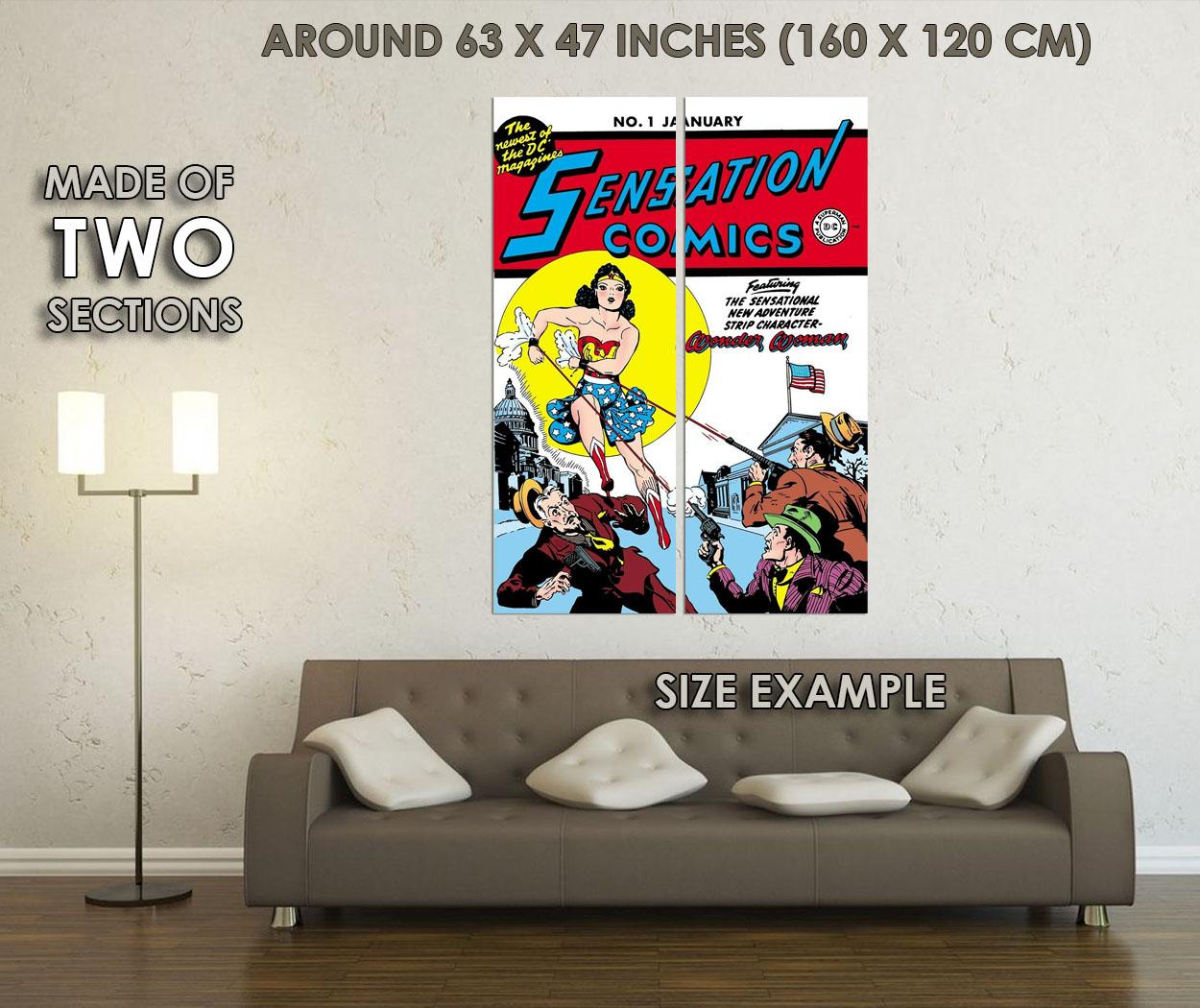 242522 SENSATION COMICS COMIC BOOK COVER WALL PRINT POSTER FR