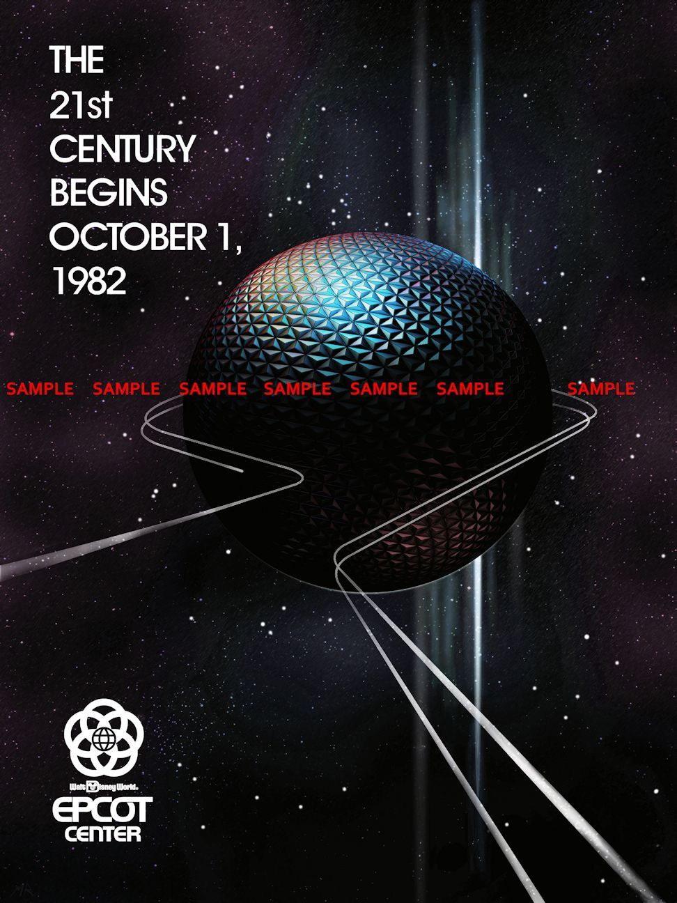 100048 Epcot Center 1982 Decor WALL PRINT POSTER US