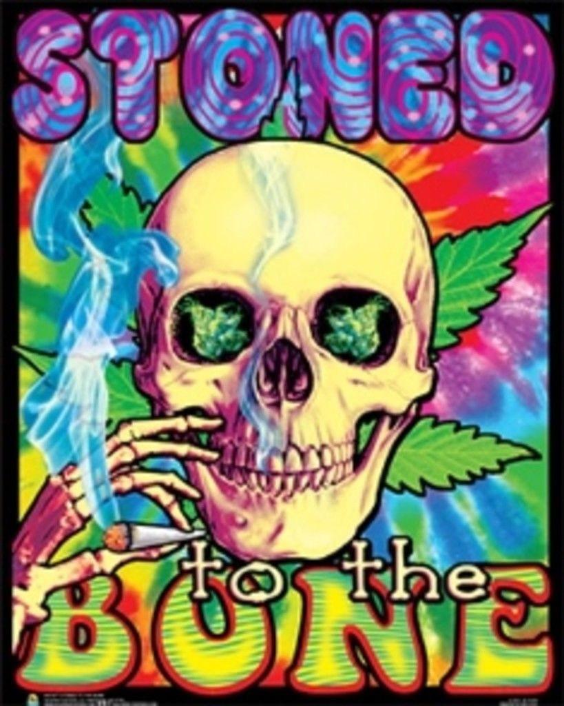 106018 Stoned To The Bone Blacklight Decor WALL PRINT POSTER AU | eBay