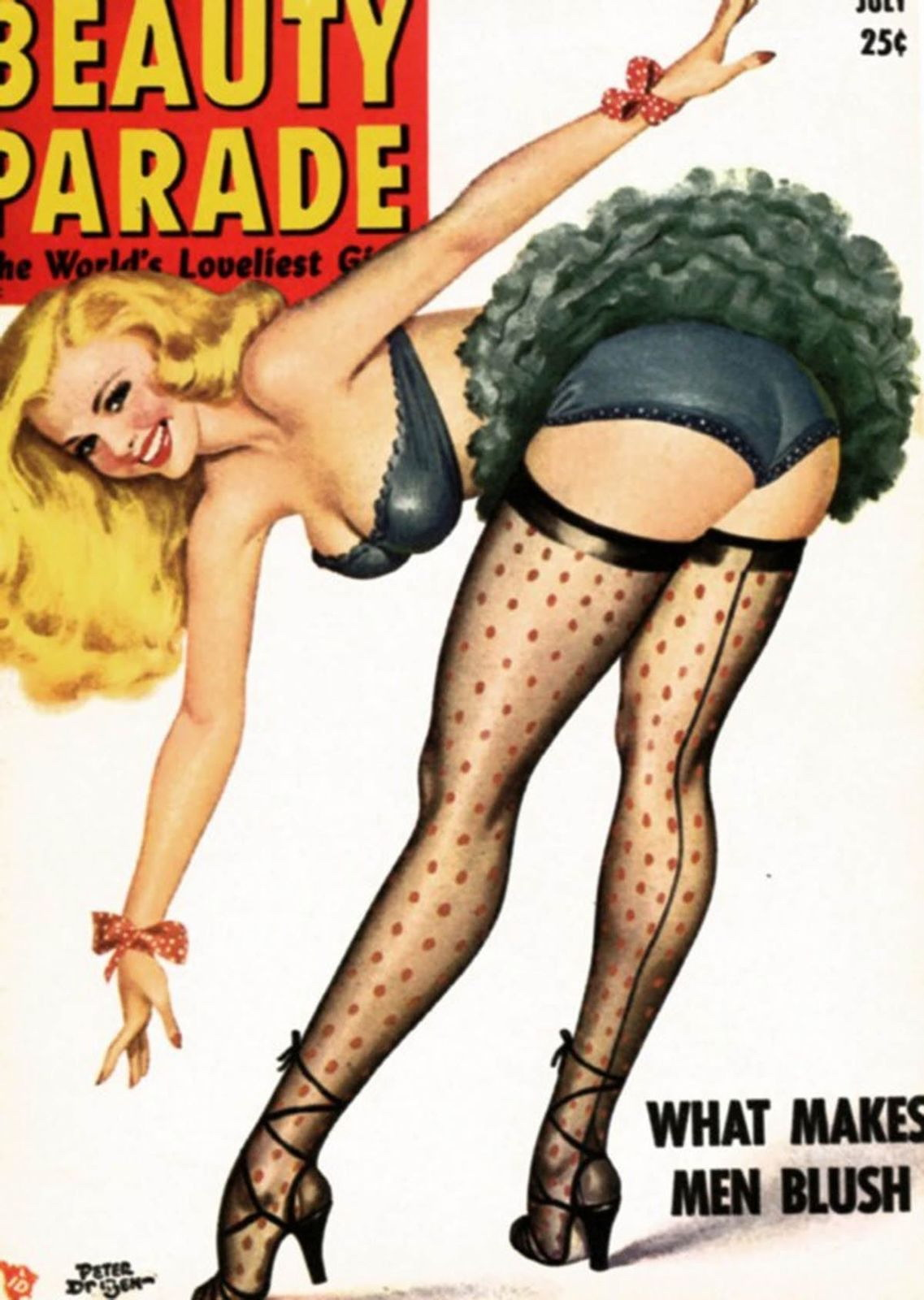 139545-FANTASY-PIN-UP-GIRL-BLONDE-Wall-Print-Poster-UK