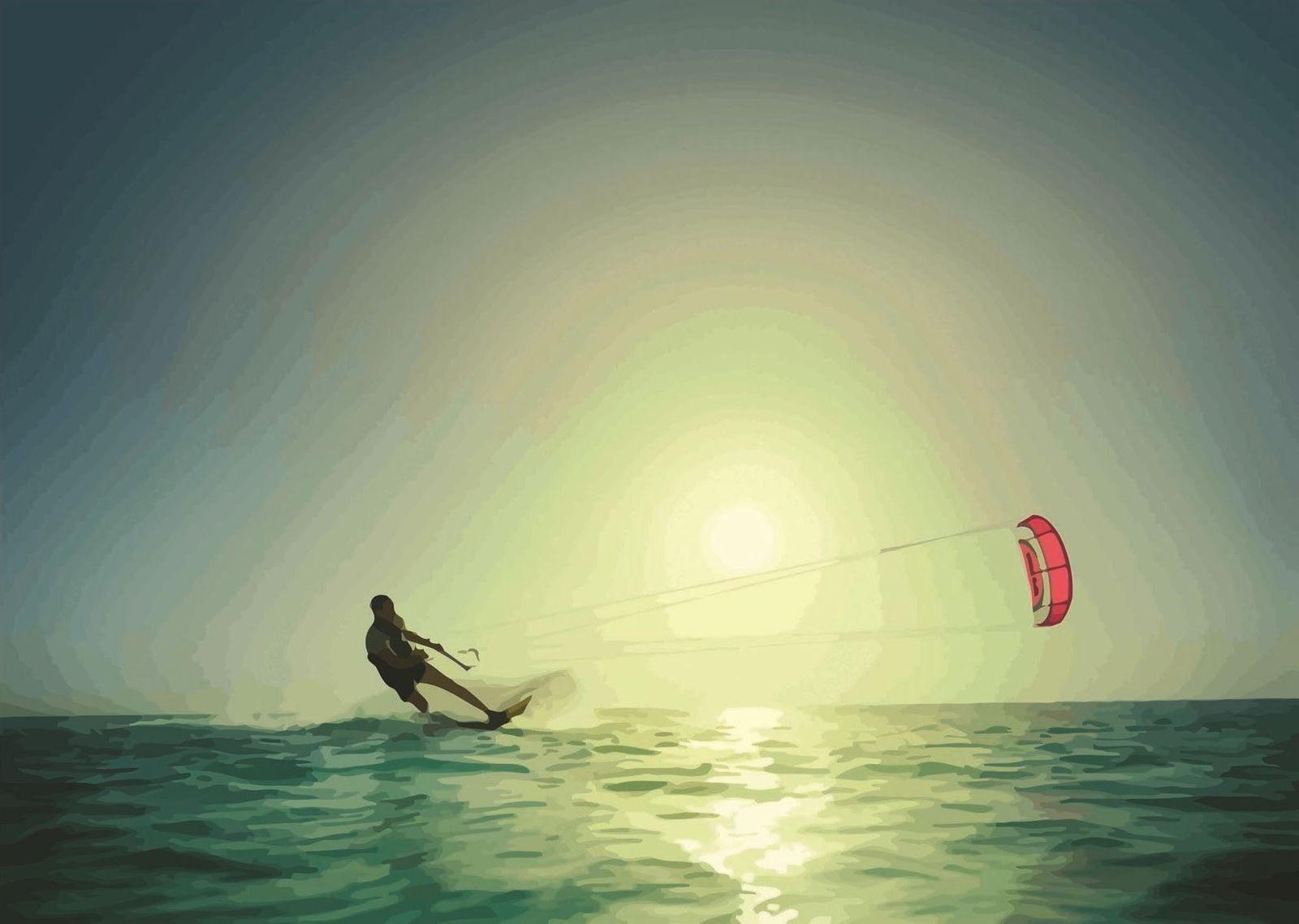 139692 KITE SURFING Wall Print Poster Plakat