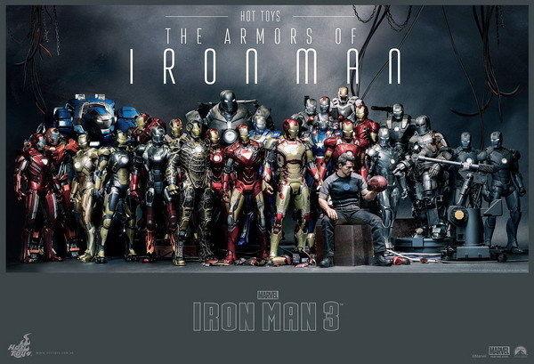 157699 Iron Man 3 Tony Stark Captain Americ Wall Print Poster Plakat