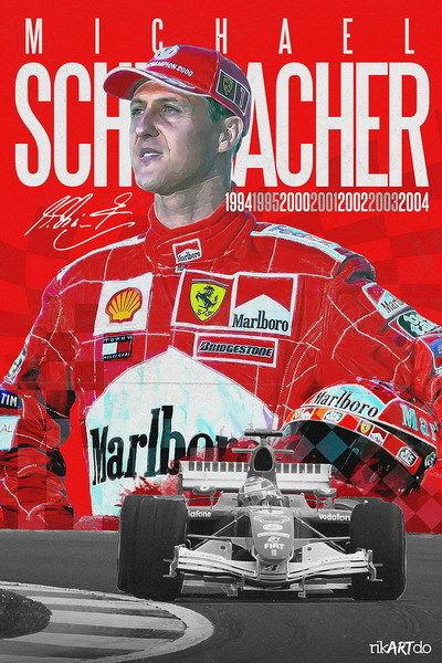 157887 Michael Schumacher Mercedes Germany F1 Racing Decor Wall Print Poster