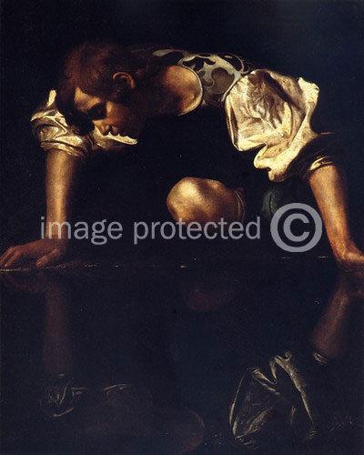 175012 Caravaggio Fine Art Narcissus Decor WALL PRINT POSTER US