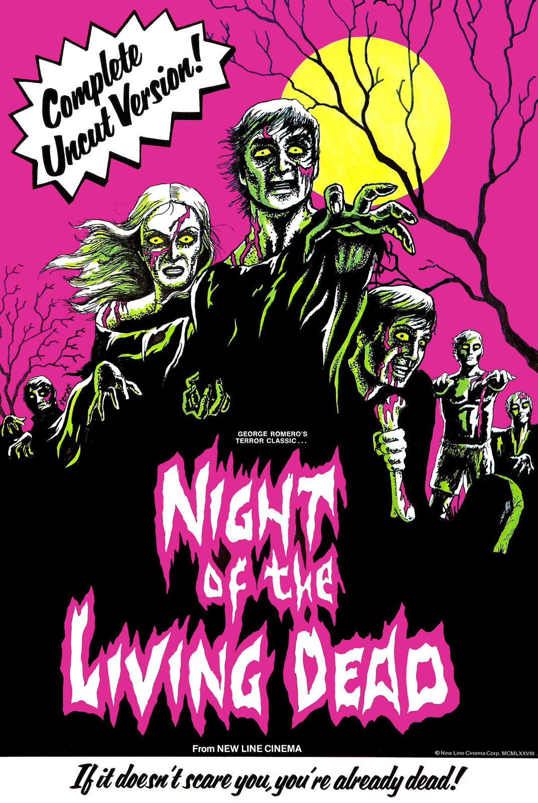 187793-Night-of-the-Living-Dead-1968-Uncut-MOVIE-retro-Wall-Print-Poster-Affiche