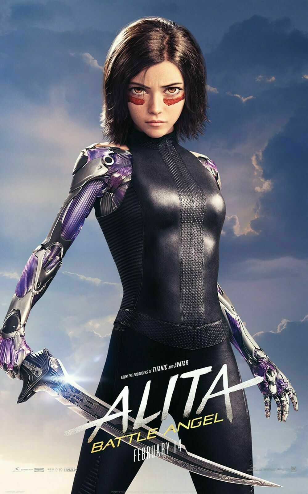 217227 Hot movie-Alita Battle Angel Decor PRINT POSTER CA