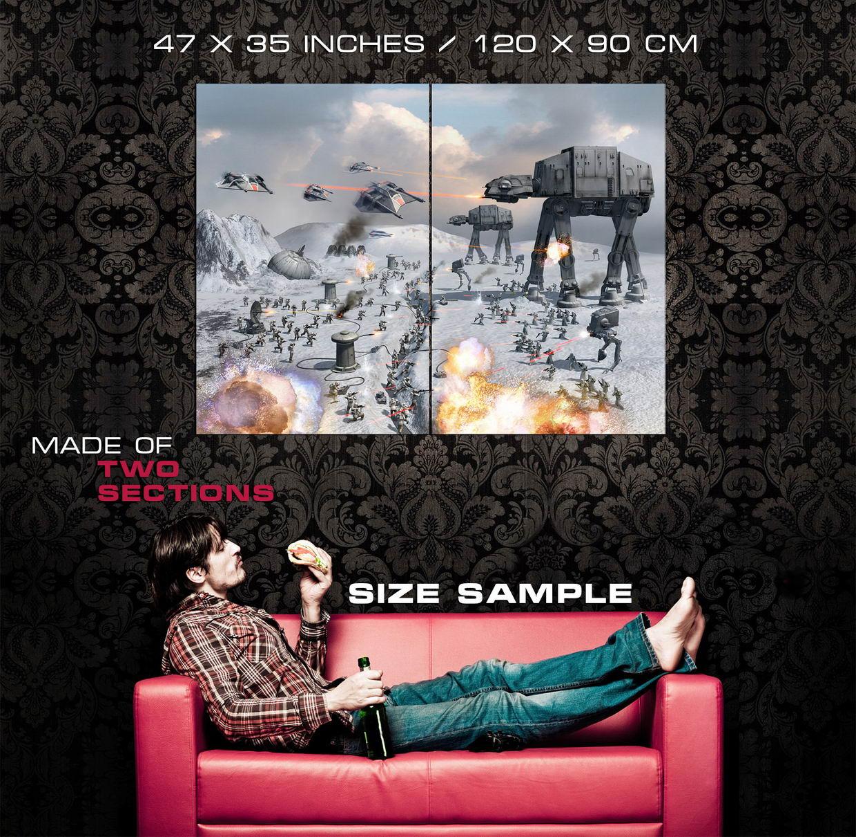 Epic Battle Hoth AT-AT Star Wars Wall Print POSTER US