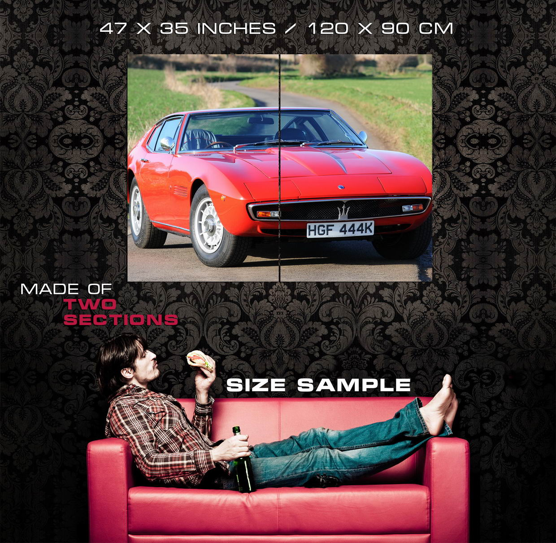 D3571 Maserati Ghibli SS Classic Sport Car Gigantic Print POSTER
