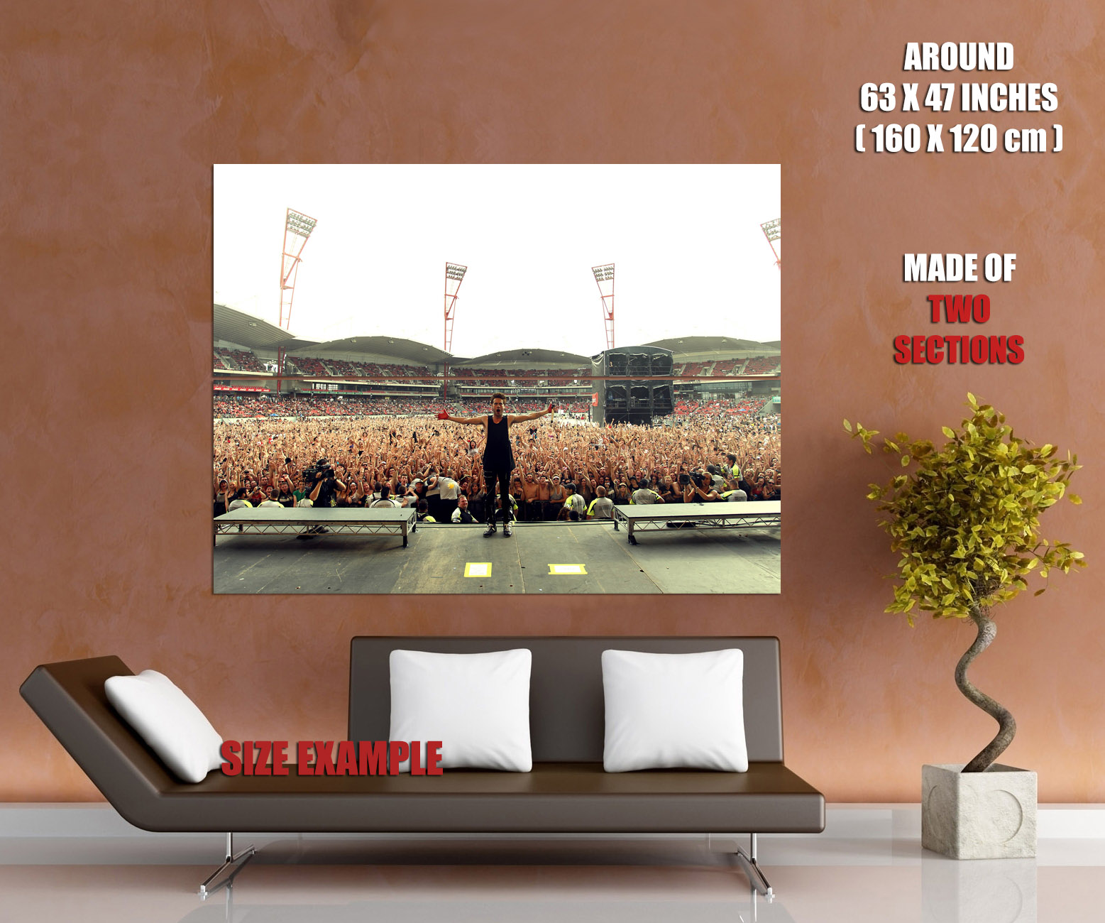 D2636 30 Seconds to Mars Live Jared Leto Music Gigantic Print POSTER