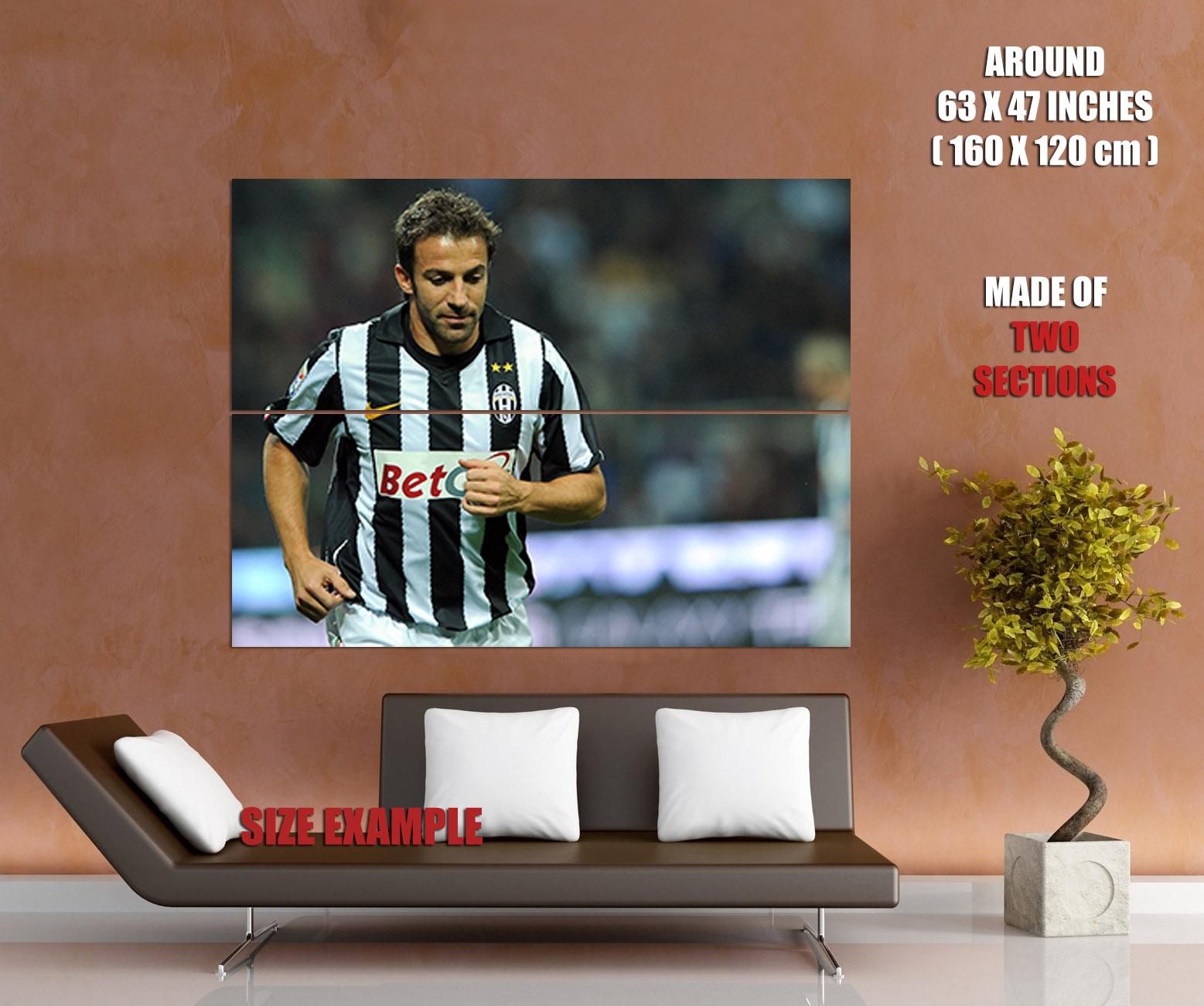 D5156 Alessandro Del Piero Juventus Legend Print POSTER Affiche