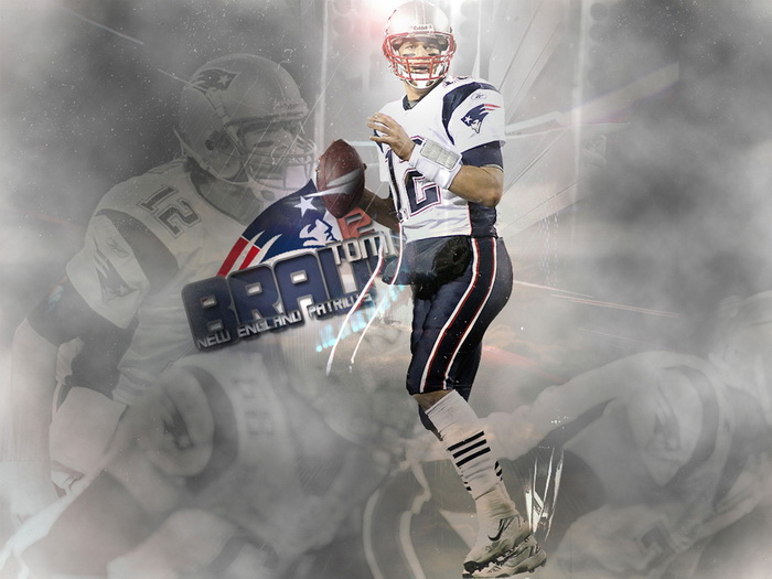 D0938 Tom Brady New England Patriots NFL Gigantic Print POSTER