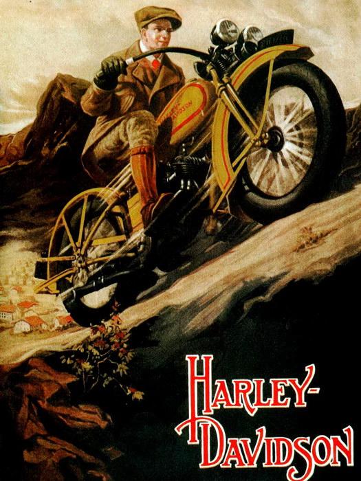 D5740 Harley-Davidson Bike Motorcycle Vintage Retro Art Gigantic Print POSTER
