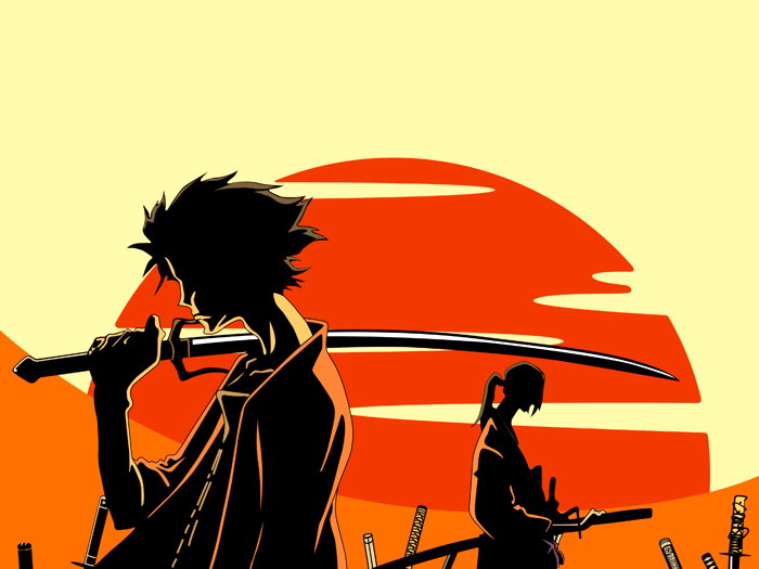 D7479 Samurai Champloo Mugen Jin Sunset Anime Manga Art Gigantic Print POSTER