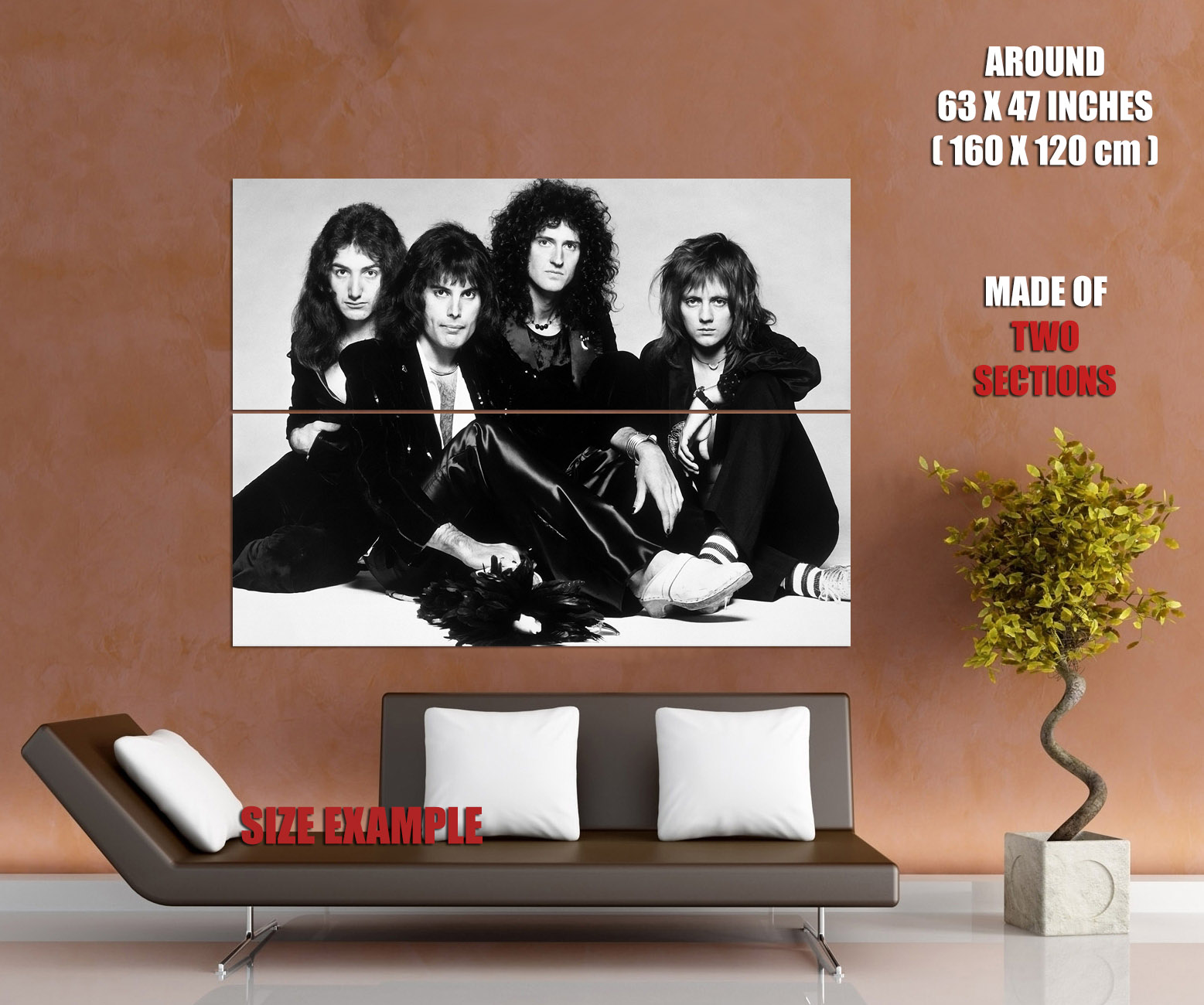 Freddie Mercury Queen Rock Legend Black /& White Wall Print POSTER CA