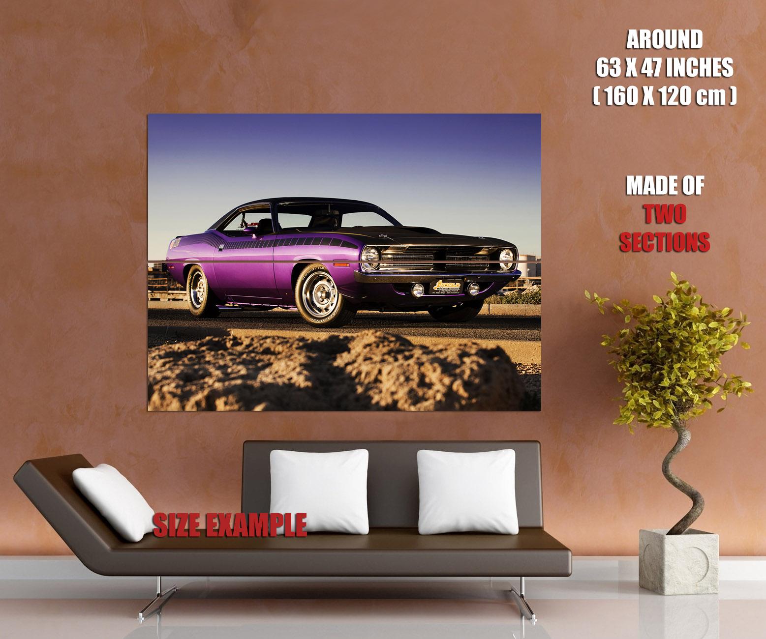 Plymouth Cuda Muscle Car Wall Print POSTER