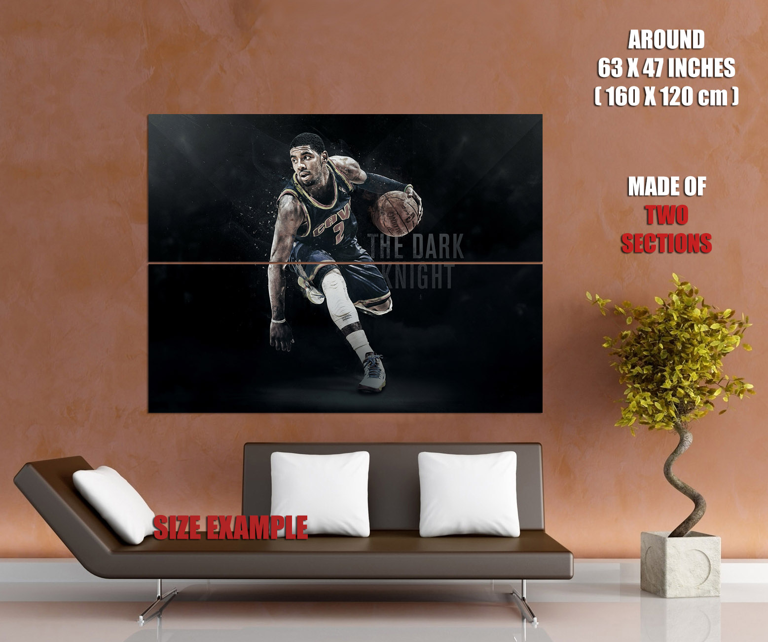 Kyrie Irving Cleveland Cavaliers Basketball Huge Giant Print POSTER Plakat