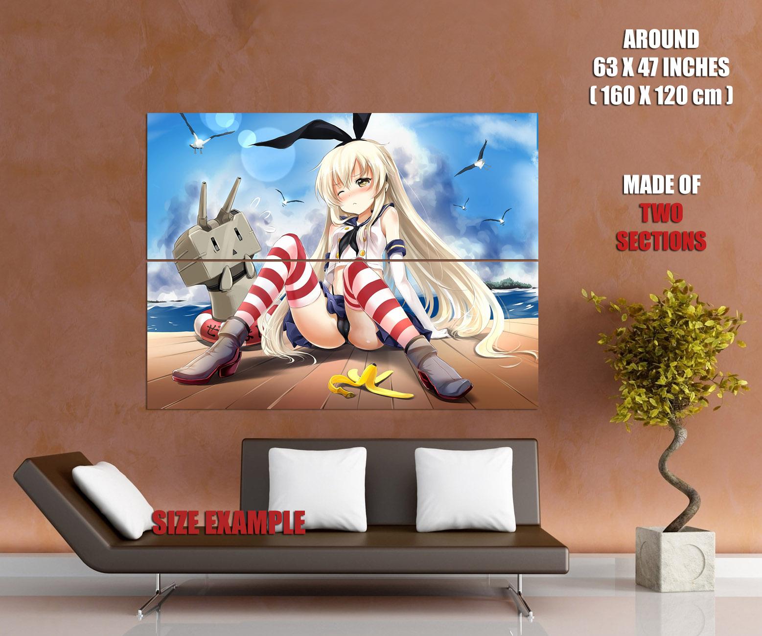 Kantai Collection Hot Cute Girl Panties Anime Huge Giant Print POSTER Plakat