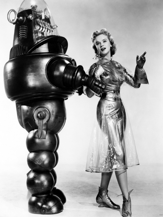 Anne Francis Forbidden Planet Retro Vintage BW Giant Print POSTER Affiche