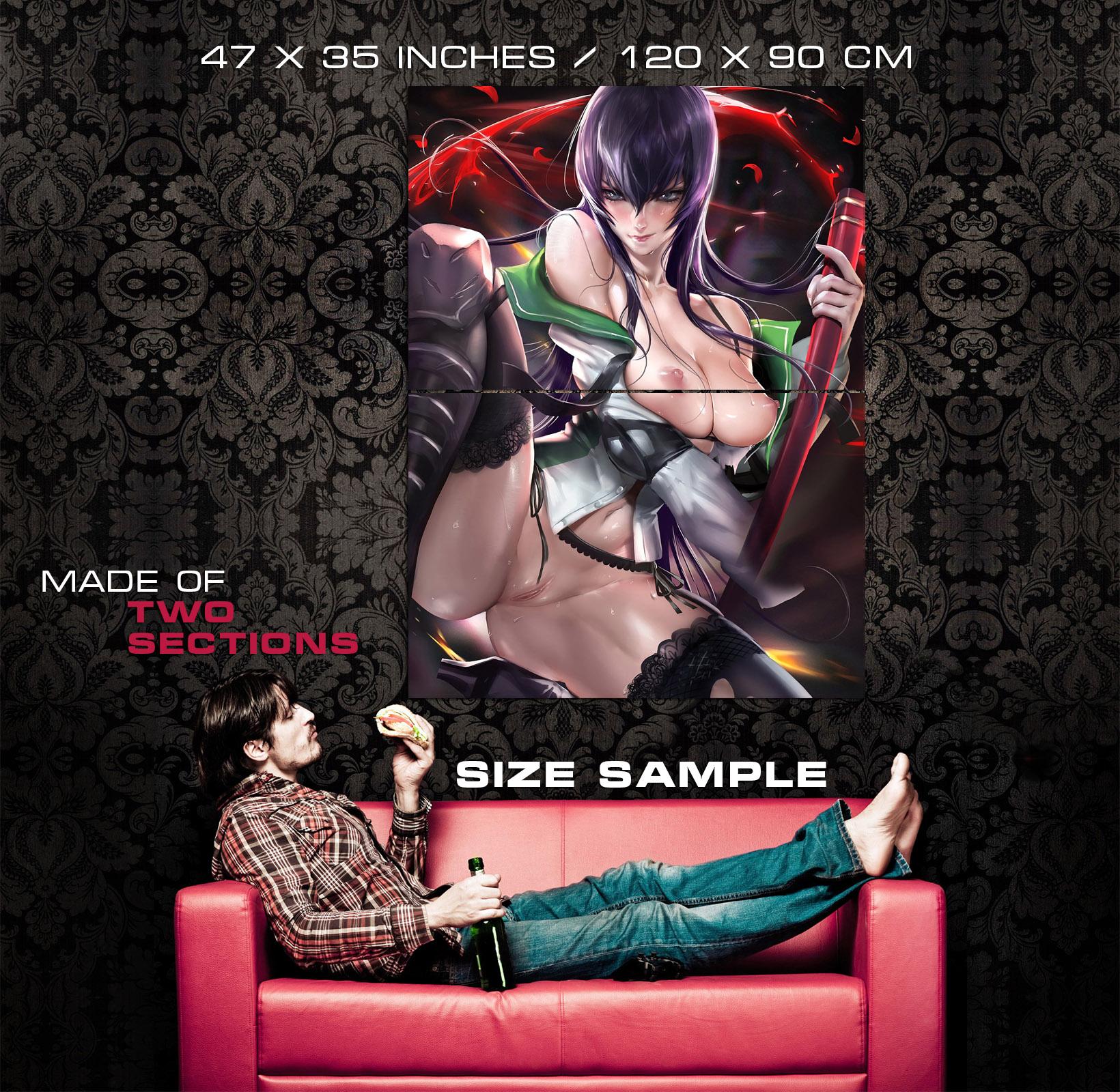 Highschool-Of-The-Dead-2-Busujima-Saeko-Sexy-Anime-Girl-Poster