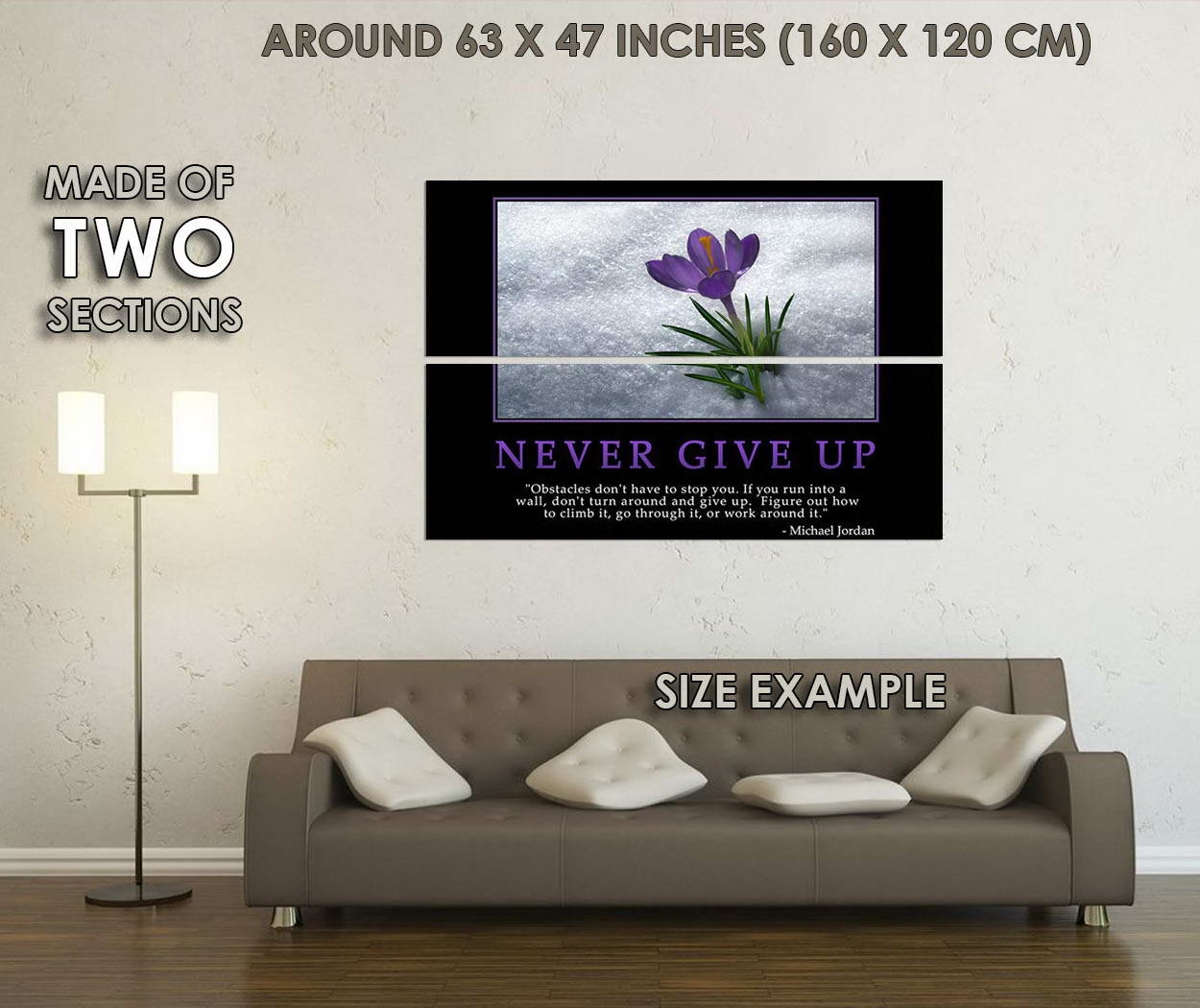 10052-Never-Give-Up-Motivational-Quote-LAMINATED-POSTER-CA thumbnail 6
