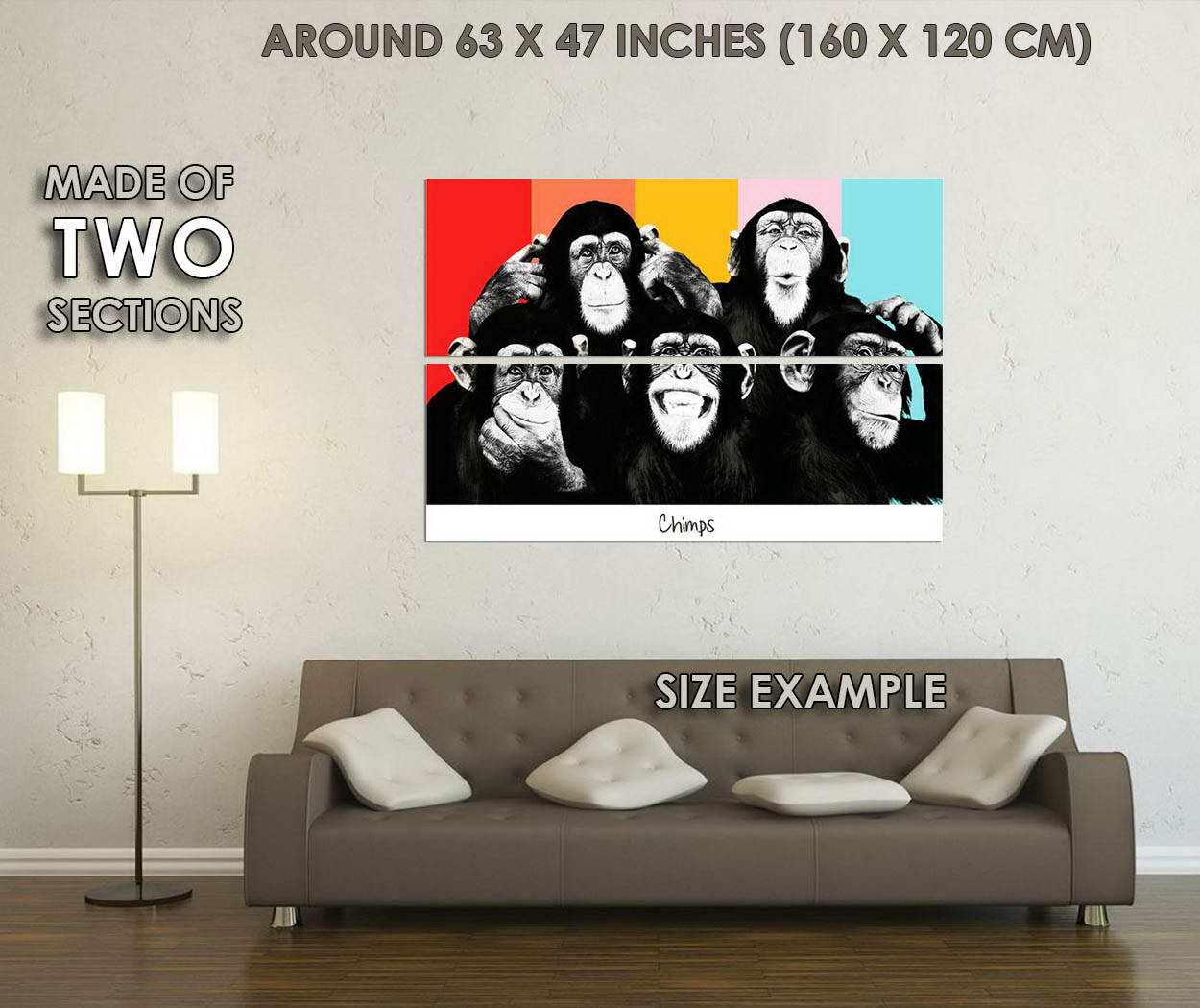 10066-The-Chimps-Funny-Monkey-Face-LAMINATED-POSTER-CA thumbnail 6