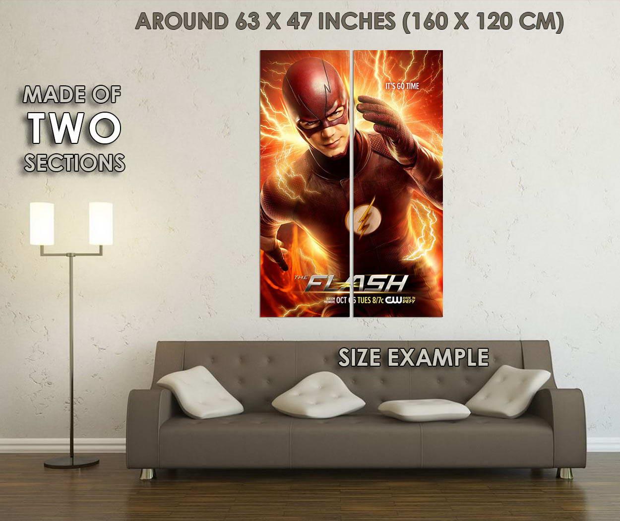 10114-The-Flash-Season-2-TV-Series-Art-LAMINATED-POSTER-CA thumbnail 6