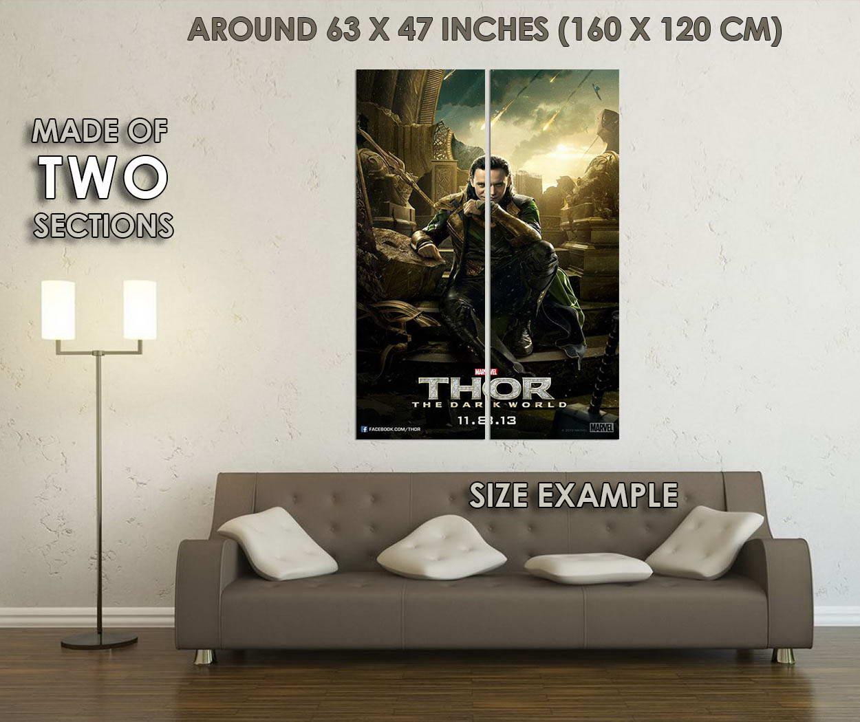 10149-Thor-2-The-Dark-World-Movie-Loki-LAMINATED-POSTER-CA thumbnail 6