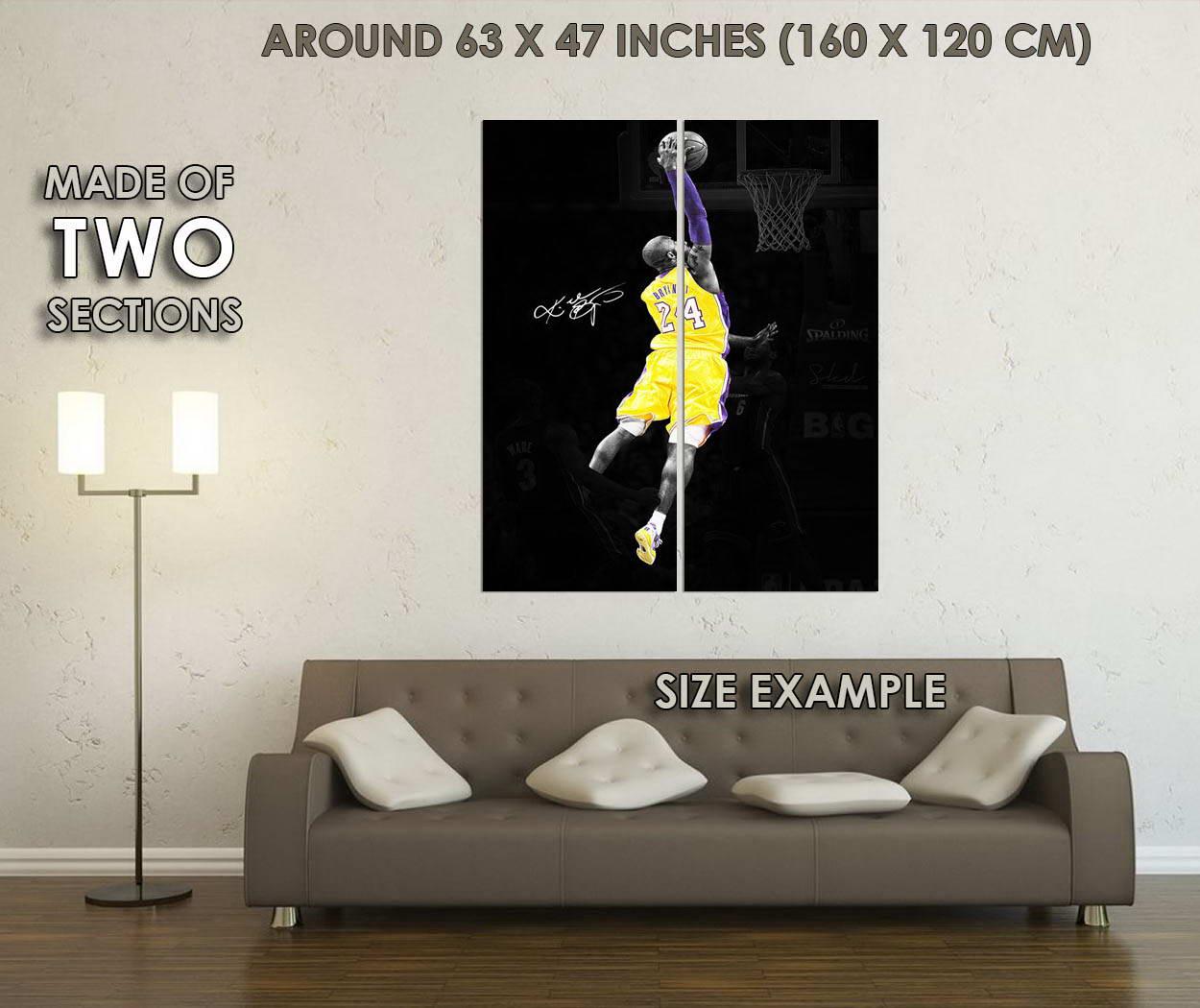 10206-Kobe-Bryant-Dunks-Basketball-Art-LAMINATED-POSTER-CA thumbnail 6