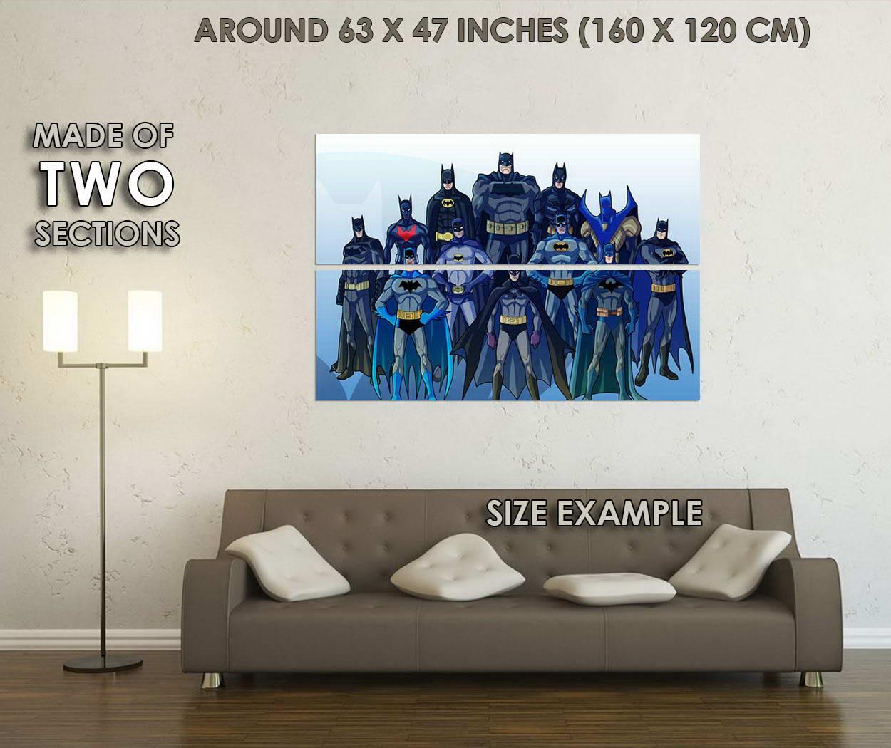 10252-Batman-Superheroes-Comic-Art-LAMINATED-POSTER-CA thumbnail 6