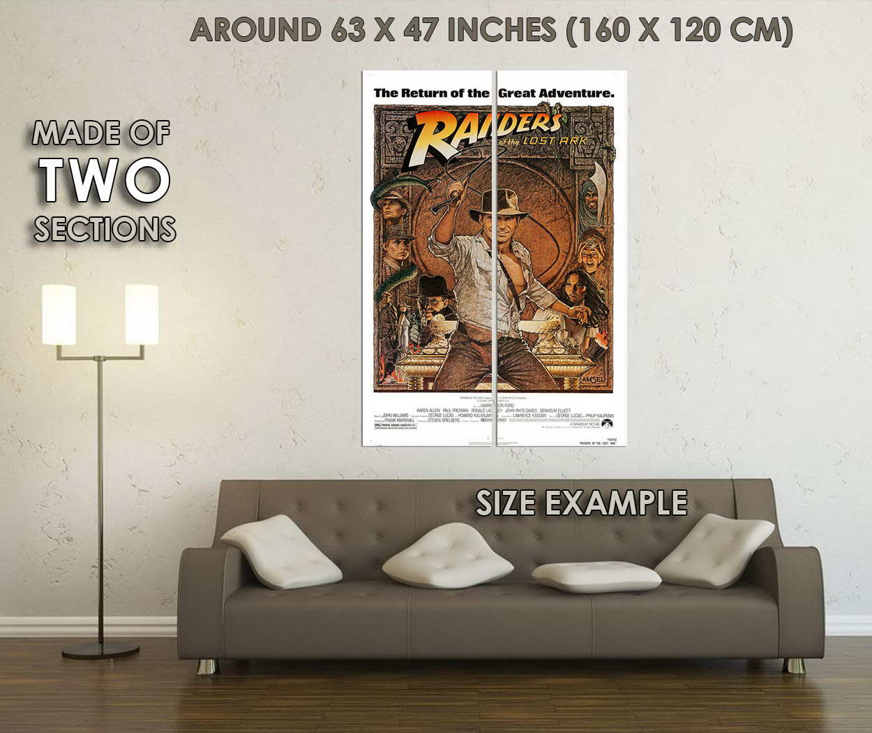 10267-INDIANA-JONES-and-the-Temple-of-Doom-Classic-Movie-LAMINATED-POSTER-CA thumbnail 6