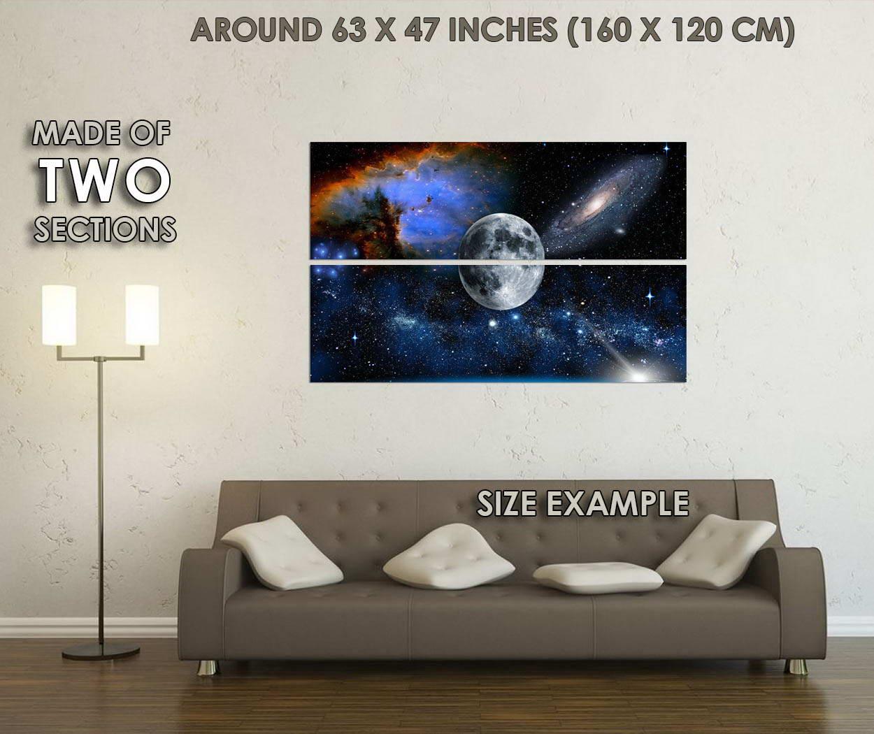 10285-The-Moon-Milky-Way-Universe-Galaxy-Science-LAMINATED-POSTER-CA thumbnail 6