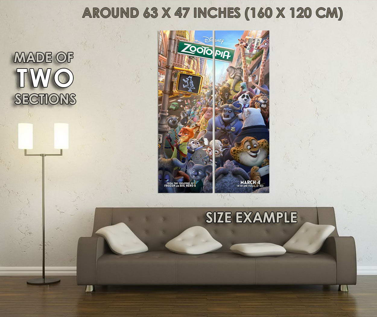 10333-Zootopia-Cartoon-Movie-Judy-Hopps-Nick-Wilde-LAMINATED-POSTER-CA thumbnail 6