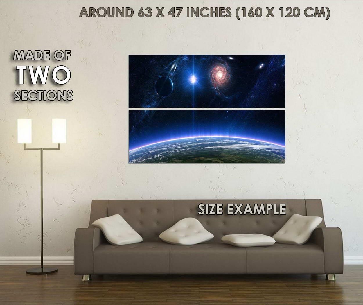 10337-Universe-Space-Galaxy-Stars-Nebula-Landscape-LAMINATED-POSTER-CA thumbnail 6