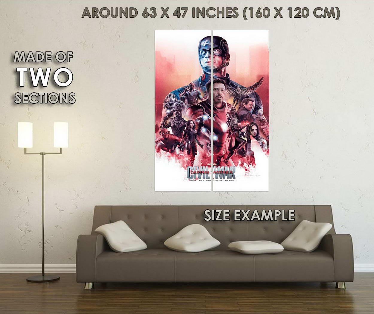 10339-Captain-America-3-Civil-War-Superhero-New-Movie-LAMINATED-POSTER-CA thumbnail 6