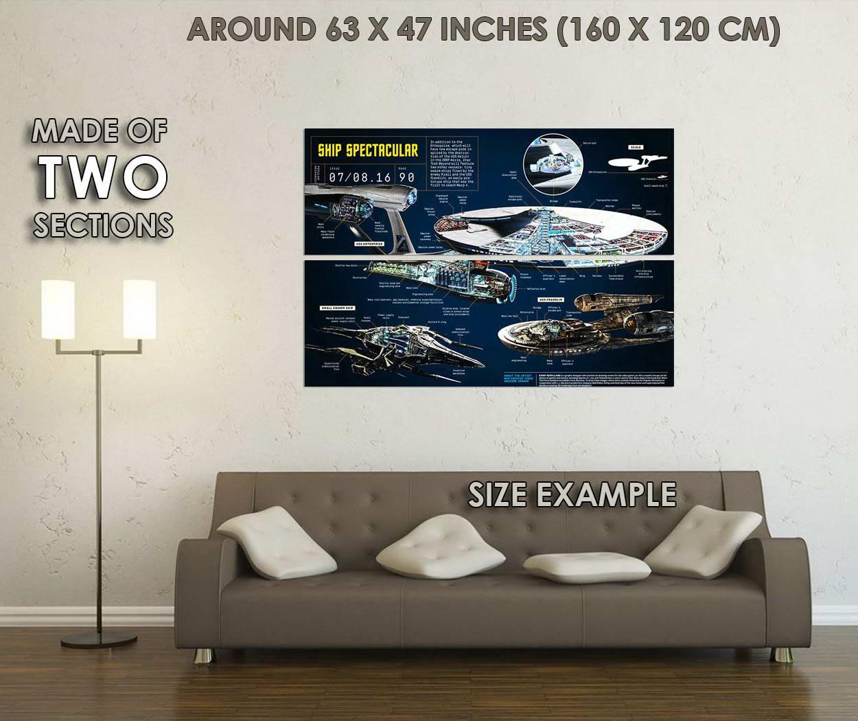 10345-STAR-TREK-BEYOND-U-S-S-Enterprise-Blue-LAMINATED-POSTER-CA thumbnail 6