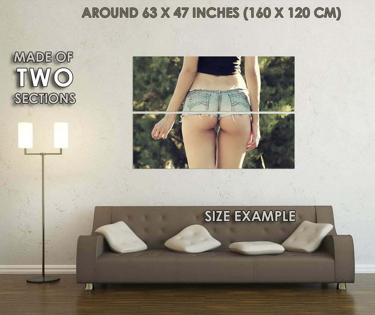 10358-Sexy-Girl-Butt-Art-Lady-with-Hot-Pants-LAMINATED-POSTER-CA thumbnail 6