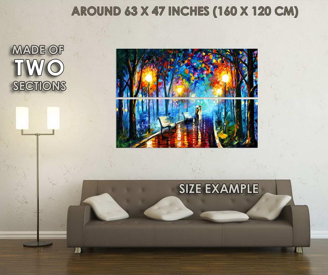 10406-A-Couple-Walking-in-Rain-Abstract-Art-LAMINATED-POSTER-CA thumbnail 6