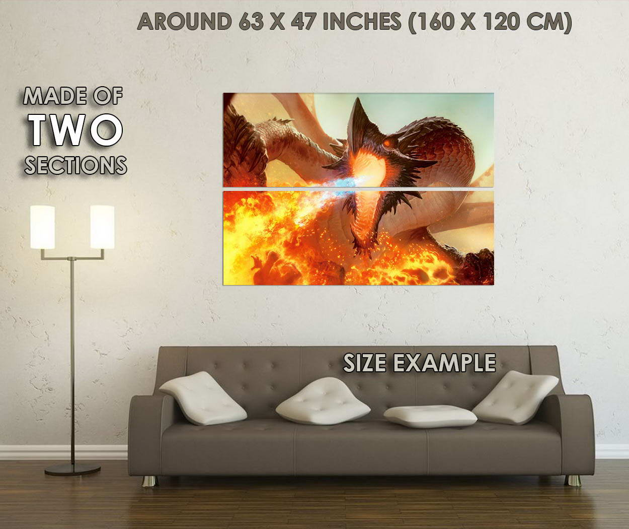 10432-Dragon-Fire-Fantasy-Art-LAMINATED-POSTER-CA thumbnail 6