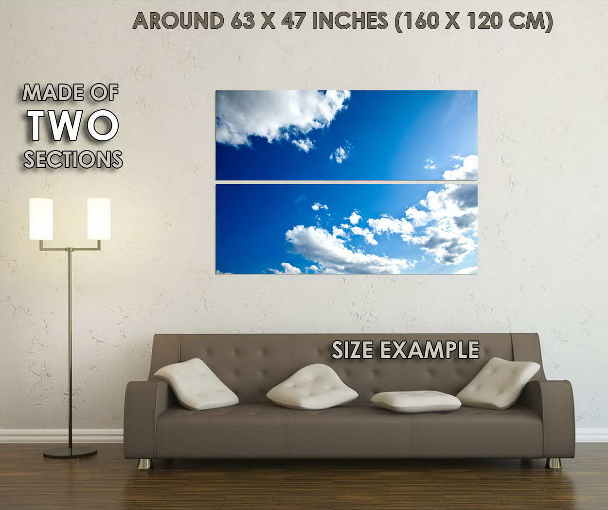10493-Blue-Sky-and-Clouds-Nature-Huge-LAMINATED-POSTER-CA thumbnail 6