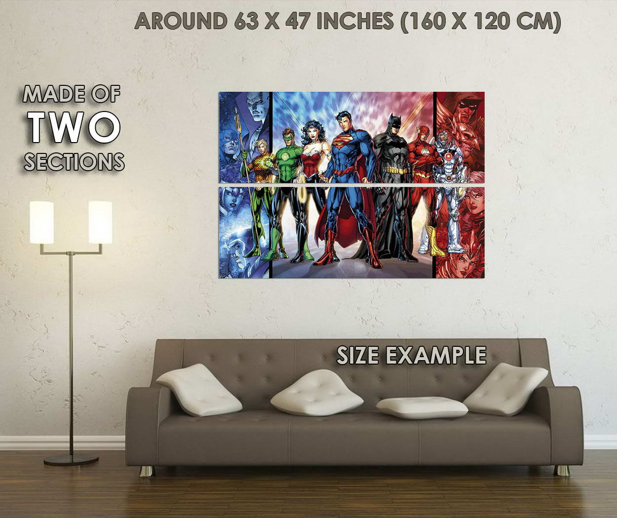 10544-Justice-League-DC-Superheroes-Comic-Batman-Superman-Wonder-Woman-POSTER-CA thumbnail 6