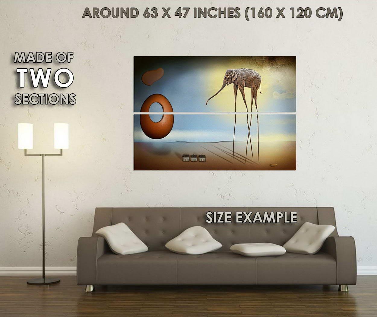 10557-Elephants-Salvador-Dali-Abstract-Art-LAMINATED-POSTER-CA thumbnail 6