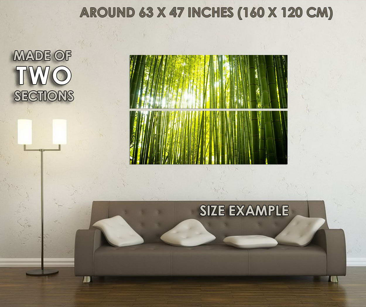 10560-Bamboo-Forest-Path-Nature-Sunbeam-LAMINATED-POSTER-CA thumbnail 6