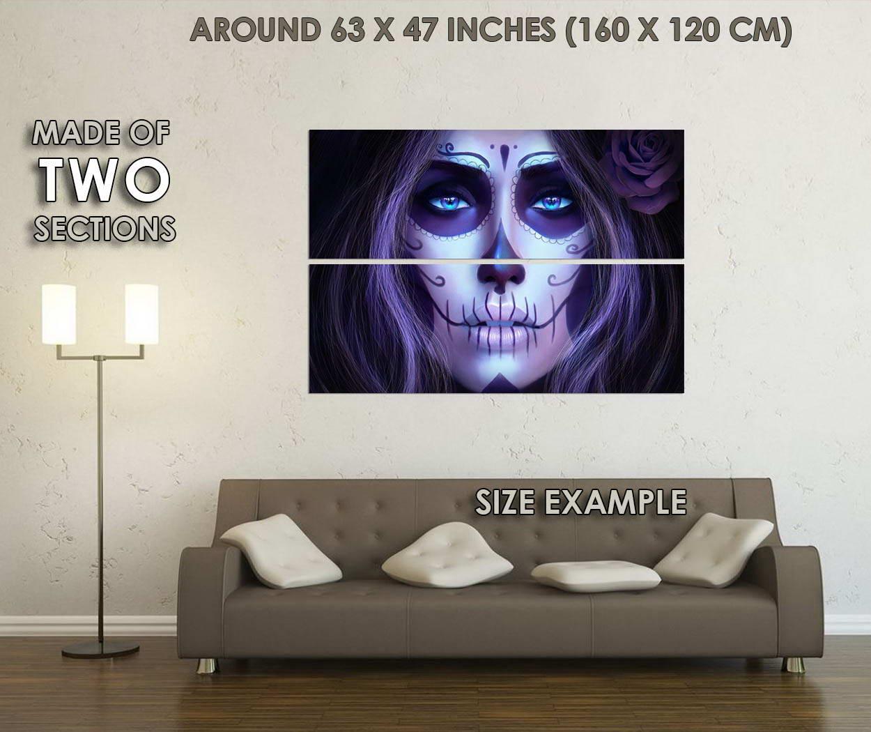 10571-Woman-Skull-Face-Fantasy-Art-LAMINATED-POSTER-CA thumbnail 6